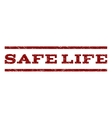 Safe Life Watermark Stamp vector image vector image