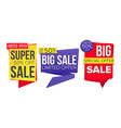 sale banner collection website stickers vector image
