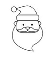 santa claus christmas related icon image vector image