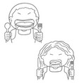 set of hungry people vector image