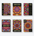 set of six posters with a bright kaleidoscope vector image vector image