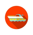 Ship Boat flat icon with long shadow vector image
