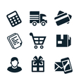 shop icons vector image