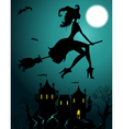 silhouette witch vector image