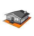 single storey house housing vector image