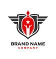 spartan shield logo design vector image
