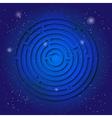 Spiritual sacred symbol of labyrinth on the deep vector image vector image