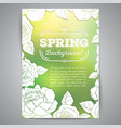 spring card with roses and blurred background vector image vector image