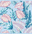 summer pattern jungle blue background vector image vector image
