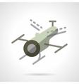 Surveillance drone flat icon vector image vector image