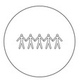 team work concept icon black color in circle vector image vector image