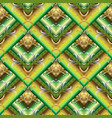 tiled green 3d greek seamless pattern geometric vector image vector image