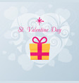valentines day card with gift vector image vector image