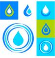 water logo set vector image vector image