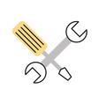 Wrench and screwdriver isolated icon