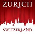 Zurich Switzerland city skyline silhouette vector image vector image