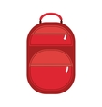 full color suitcase with pockets with zipper vector image