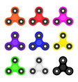 hand spinner set flat vector image