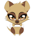 Cute little brown puppy vector image