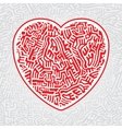 Labyrinth heart seamless vector image