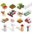 1611i201035Pm003c23Farm isometric set icon vector image vector image