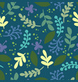 abstract leafs retro seamless pattern vector image