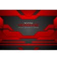 Abstract red black tech layout concept background vector image vector image