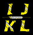 alphabet abstract yellow and white modern sport vector image vector image