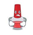 angry nail polish mascot cartoon vector image