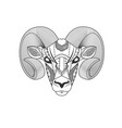 aries tribal black and white tattoo vector image