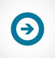 arrow bold blue border circle icon vector image vector image