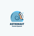 astronaut abstract sign emblem icon or vector image vector image