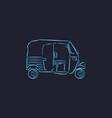auto rickshaw line art vector image