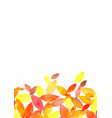 autumn leaves watercolor grunge hand painting vector image vector image