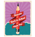 Back to school retro poster vector image vector image