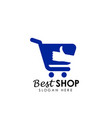 best stores logo design best shop logo icon design vector image