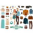 Big Fashion Set vector image vector image