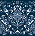 blue damask seamless pattern element vector image