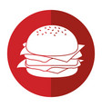burger fast food shadow vector image vector image