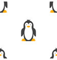 cartoon penguin seamless pattern drawing vector image