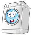 cartoon washing machine clip art with simple vector image vector image