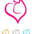 Cat Heart vector image vector image