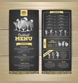 chalk drawing cocktail menu design corporate vector image vector image