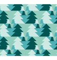 Christmas seamless pattern with trees Xmas texture vector image