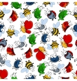 Colorful seamless pattern of insects vector image vector image