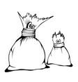 comic cartoon characters cute sacks family sketch vector image vector image