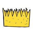 comic cartoon paper crown vector image vector image