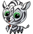 cute zebra vector illustration vector image vector image