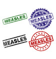 damaged textured measles seal stamps vector image vector image