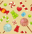 delicious sweet candies in bright covers and vector image vector image